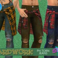 Yardwork Ph Torn Jeans By Simmiev