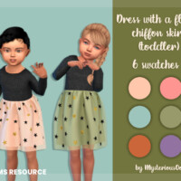 Dress With A Fluffy Chiffon Skirt (toddler) By Mysteriousoo