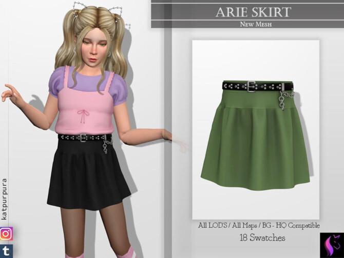 Sims 4 Arie Skirt by KaTPurpura at TSR