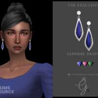 Sapphire Drops By Glitterberryfly
