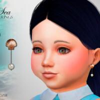 Sea Toddler Earrings By Suzue