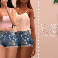 Daisies Shorts By Dissia