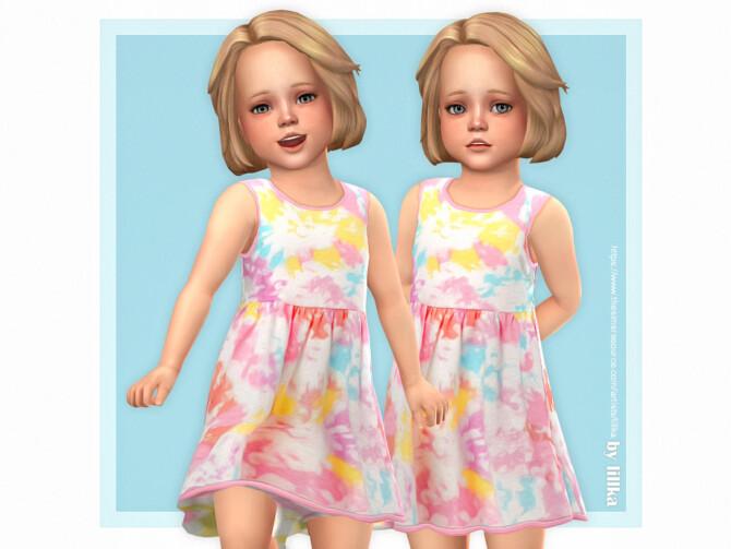 Sims 4 Palina Dress by lillka at TSR