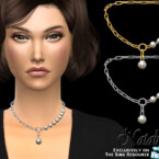Pearl Fragment Chain Necklace By Natalis