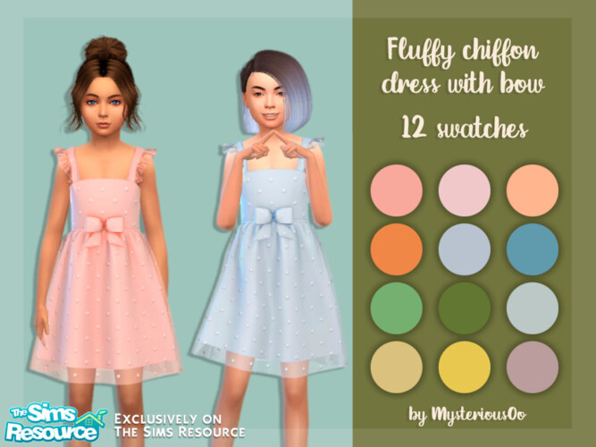 Fluffy Chiffon Dress With Bow By Mysteriousoo