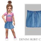 Denim Skirt C395 By Turksimmer