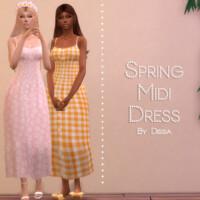 Spring Midi Dress By Dissia