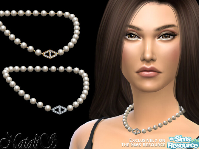Diamond Hexagon Pearl Necklace By Natalis
