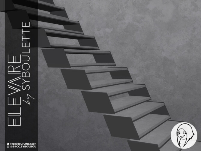 Sims 4 Elevare PART 2 stairs by Syboubou at TSR