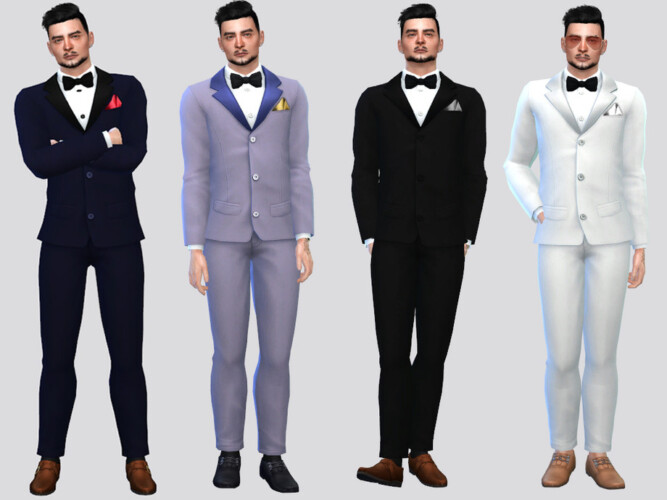 Formal Tuxedo Suit By Mclaynesims