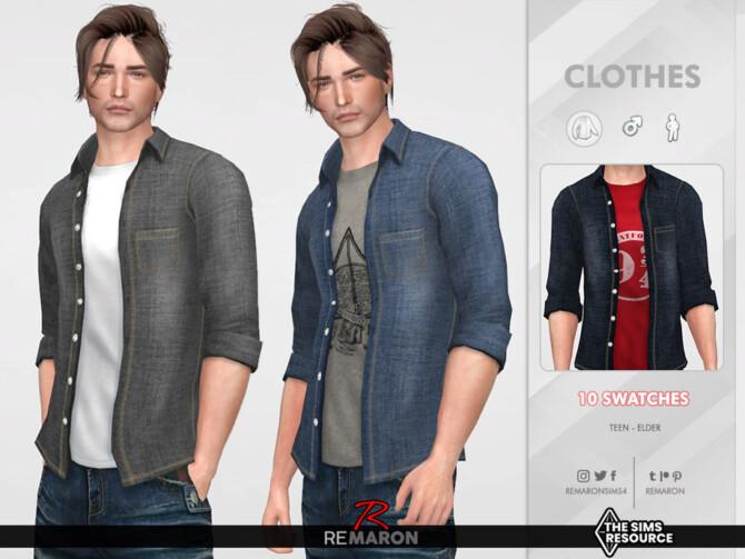 Sims 4 M 2 Shirts 01 by ReMaron at TSR