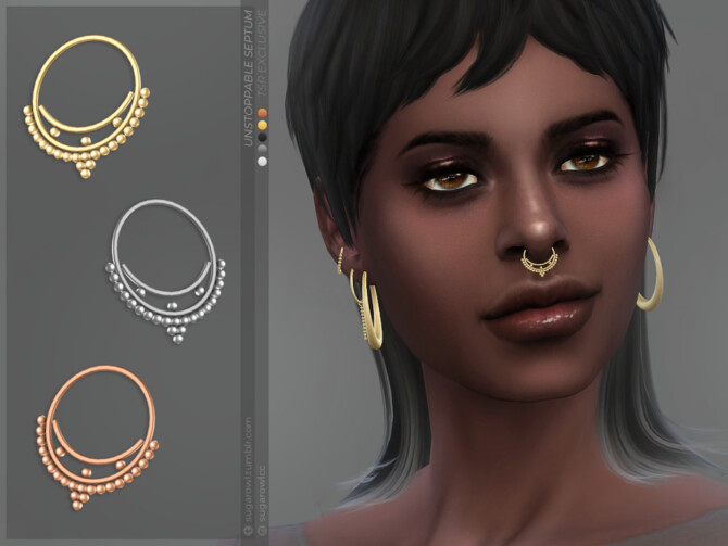 Sims 4 Unstoppable septum by sugar owl at TSR