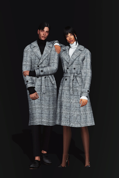 Sims 4 Winter Trench Coat AF at Gorilla