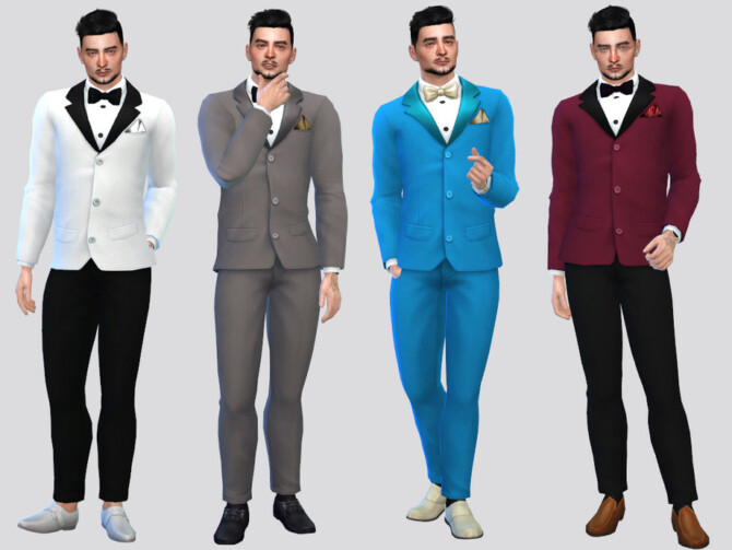 Sims 4 Formal Tuxedo Suit by McLayneSims at TSR