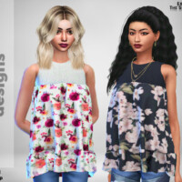 Baby Doll Flower Top By Pinkfizzzzz