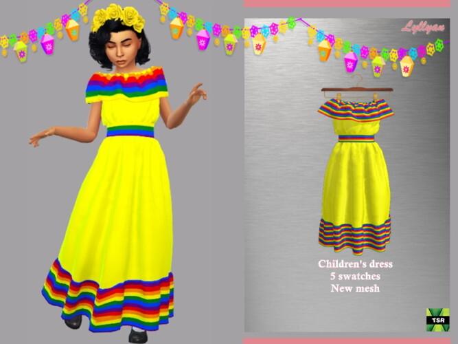 Child Dress Cinco De Mayo By Lyllyan