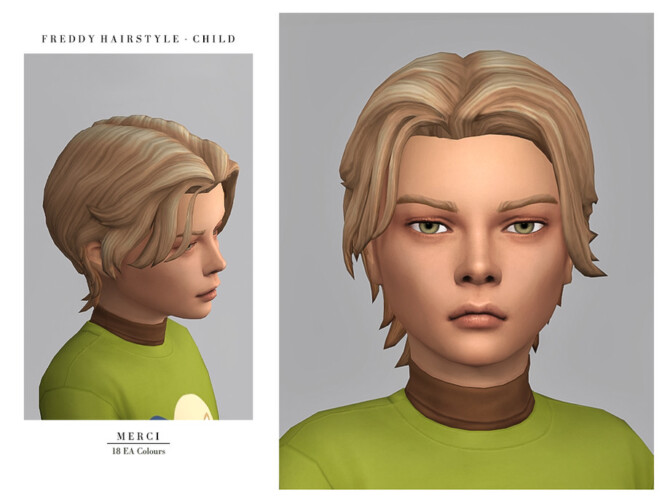 Sims 4 Freddy Hairstyle Child by Merci at TSR