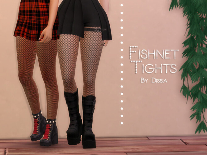 Sims 4 Fishnet Tights by Dissia at TSR