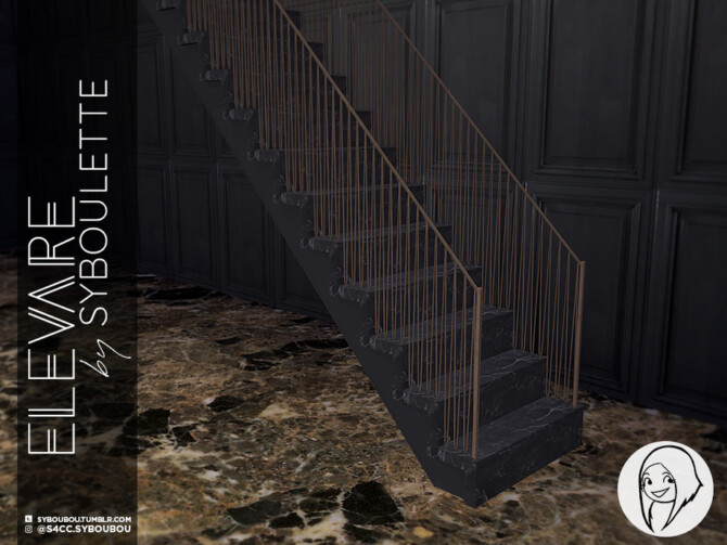 Sims 4 Elevare PART 1 stairs by Syboubou at TSR