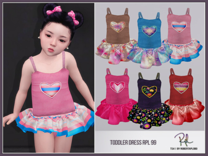 Toddler Dress Rpl99 By Robertaplobo