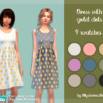 Dress With Gold Dots By Mysteriousoo