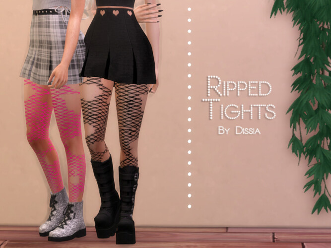 Ripped Tights By Dissia