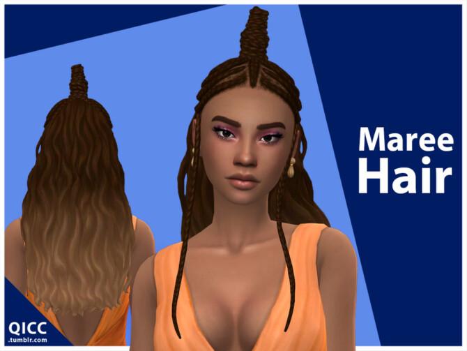 Sims 4 Maree Hair by qicc at TSR