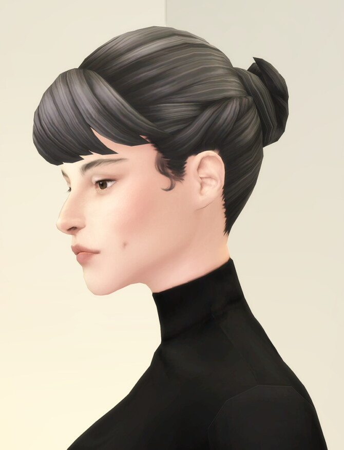 Sims 4 Chloe bun hair at Rusty Nail