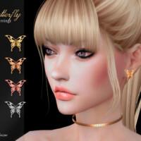 Butterfly Earrings By Suzue