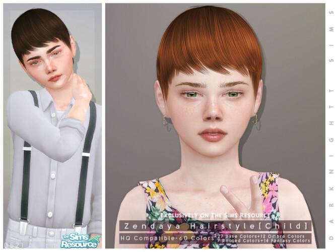 Zendaya Hairstyle [child] By Darknightt