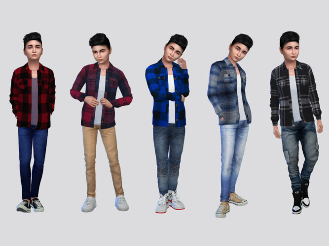Jonas Flannel Shirt Boys By Mclaynesims
