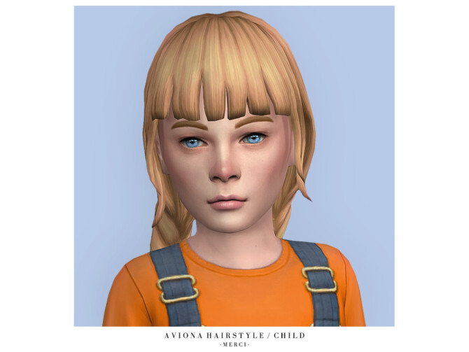 Sims 4 Aviona Hairstyle Child by Merci at TSR