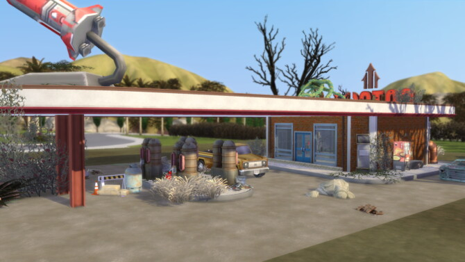 Sims 4 Fallout 4: Red Rocket Gas Station at Mod The Sims 4