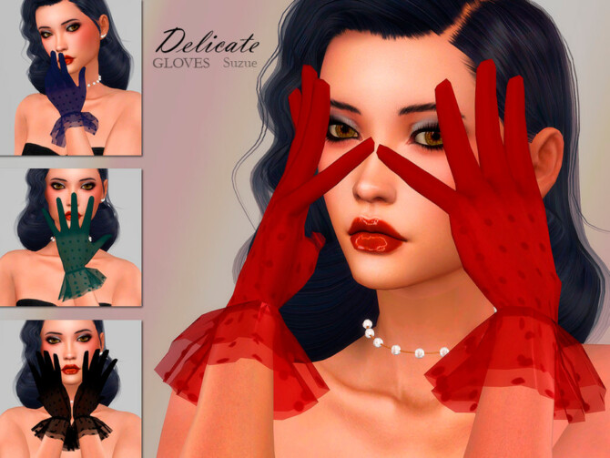 Sims 4 Delicate Gloves by Suzue at TSR