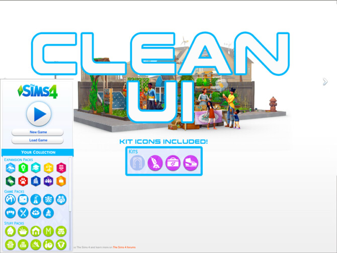 Sims 4 Clean UI by TwistedMexi at TSR