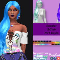Recolor Of S-club's N71 Kayla Hair By Pinkycustomworld