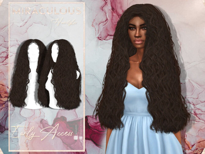 Sims 4 Miraculous Hairstyle by JavaSims at TSR