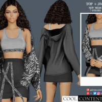 Bra Top + Jacket By Sims2fanbg