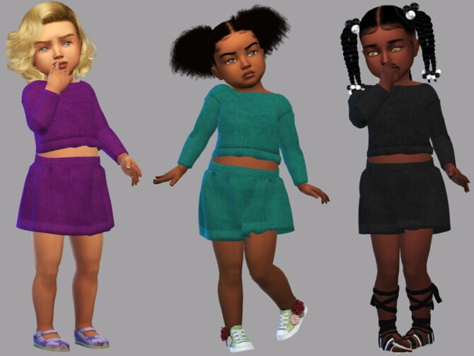 Sims 4 Set toddler Bia by LYLLYAN at TSR