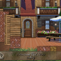 Etruscan Red Stone Siding By Emerald
