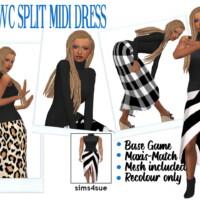 Rhowc's Split Midi Dress