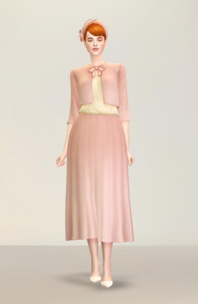 Sims 4 Lady of Dress 2 at Rusty Nail