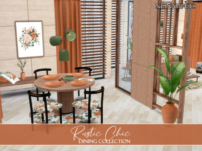 Rustic Chic Dining By Neinahpets