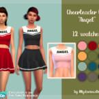 Cheerleader Top Angel By Mysteriousoo