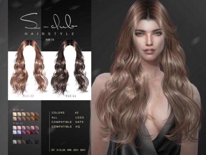 Sims 4 Hair 202119 by S Club WM at TSR