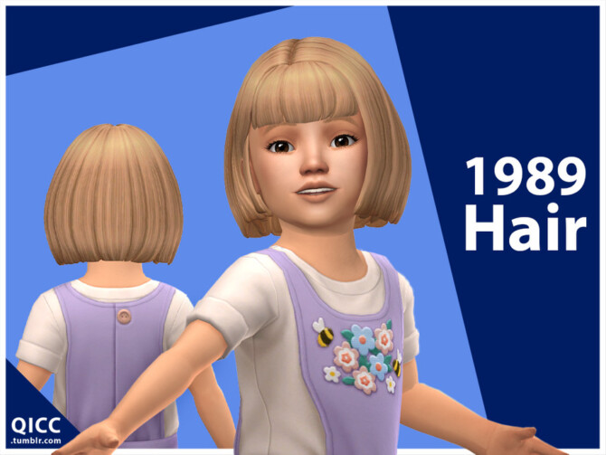 Sims 4 1989 Hair for toddler by qicc at TSR