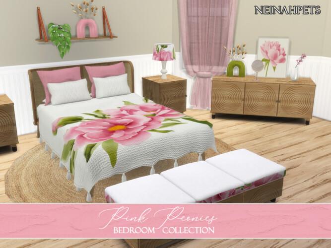 Pink Peonies Bedroom By Neinahpets