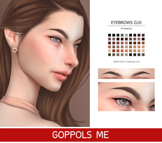 Sims 4 GPME GOLD F Eyebrows G16 at GOPPOLS Me