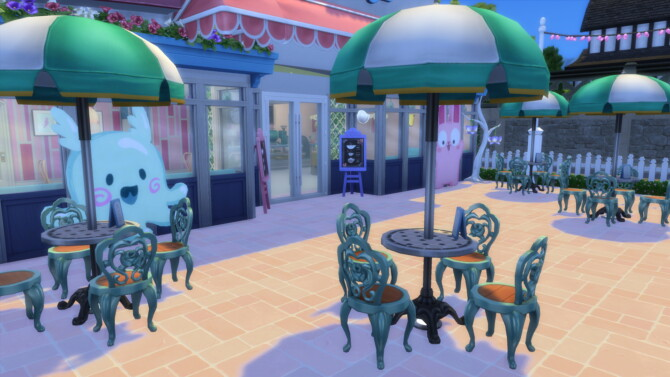 Sims 4 Creamy Cones Ice Cream Shop by Planetsims.youtube at Mod The Sims 4