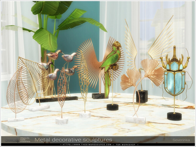Metal Decorative Sculptures By Severinka